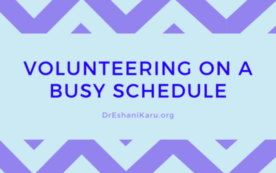 Volunteering on a Busy Schedule